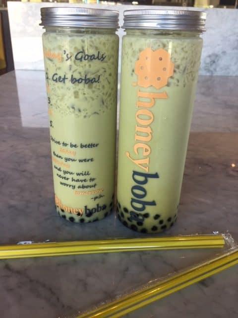Honey Boba Matcha Tea Drink Review
