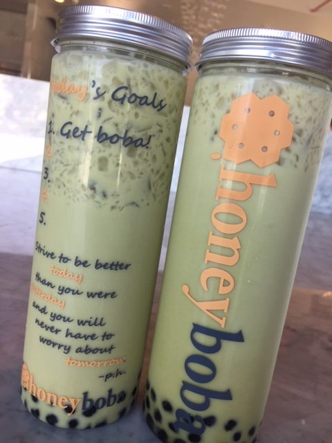 Honey Boba Matcha Tea Drink Review